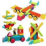 FlyCreat ブロック ほのぼのペタペタブロック ビルディングブロック 80ピース 積み木 立体パズル ブリストルブロック 学習玩具 建物お..