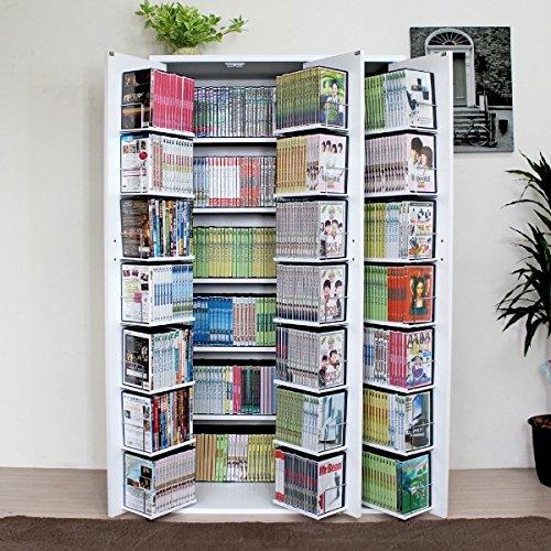 本棚 扉付 省スペースで、大量収納でき、整理 や出し入れに便...