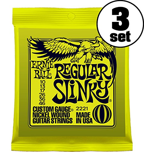 【正規品】 ERNIE BALL ギター弦 レギュラー (10-46) 3セット 2221 REGULAR SLINKY 3SET