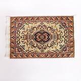 【ノーブランド 品】1/12 ドールハウス トルコ風 カーペット ミニチュア 刺繍 布 マット 装飾 全2サイズ - M