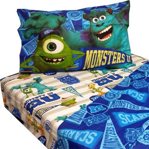 おもちゃ Monsters U Twin Sheet Set 3pc Scare Pennant Bed Accessories [並行輸入品]