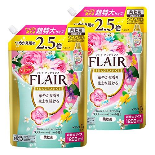 【まとめ買い】フレアフレグランス フラワー&ハーモニー 詰替用 1200ml×2個