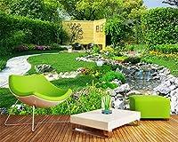Mbwlkj カスタムクラシック防水壁紙ガーデン川の風景寝室リビングルームの背景Walltapety-400cmx280cm