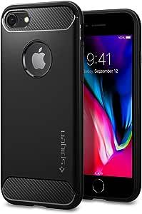 【Spigen】 iPhone8 ケース / iPhone7 ケース 対応 TPU 米軍MIL規格取得 ラギッド・アーマー 042CS20441 (ブラック)
