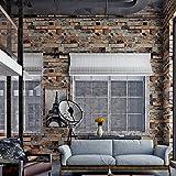 (ハンメロ)HANMEROリビングルーム 部屋 ふすま diy リフォーム用おしゃれなレンガ壁紙 のりなし はがせる ビニールクロス 1ロール(53cm×10m)L91303