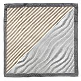 (エムエイチエー) M.H.A.style ストライプ スカーフ トレンド レトロ クラシカル プリントスカーフ 21209 C.ブラウン