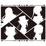 プリンセス・プリンシパル QHD(1080×960) シルエットのアンジェ,プリンセス,ドロシー,ベアトリス,ちせ