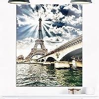 "Designart""Cityscape Photo Metal Wall Art Cityscape Photo"" 壁掛け 12インチ x 20インチ ブルー"
