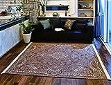 最高級ペルシャ絨毯デザイン 繊細で鮮明 ゴブラン織りラグ200×200