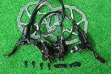 シマノ SHIMANO 油圧ディスクブレーキ BL-M395 BR-M395 ホース帳 F65/R120cm 160mmサイズローター付 ブラック 前後セット 自転車1台分