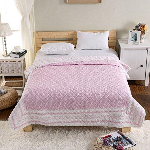 君のホームカザリ ベッドカバー ベッドスプレッド マルチ カバー キルト おしゃれ 上品 ダブル 綿100% 150X200cm (R)