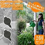STARDUST 【2個セット】 プラント チャーム ハンキングプランター 観葉植物 ガーデニング カラビナ 吊るす 花 草 SD-PURAPURA