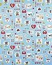 お昼寝布団カバー 80×130 cm 80 130 サイズオーダー 保育園 綿 ファスナー 柄番200ブルー