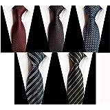 ECONT メンズ ネクタイ 洗える ビジネス 結婚式 プレゼント 6本セット