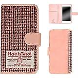 ホワイトナッツ iPhone7 スマホケース 手帳 ハリスツイード ピンク ケース アイフォンセブン 手帳型 カバー スマホカバー WN-OD165992_ML