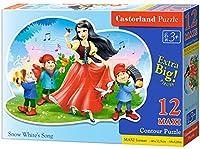 キャスターランドB-120192ジグソーパズルプレミアムマキシ12 PC - 白雪姫の歌