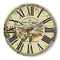 ヨーロッパの田舎の牧歌的なリビングルームの壁時計クロックレトロ家具の装飾的な鳥のウォールクロック 16 インチ 3