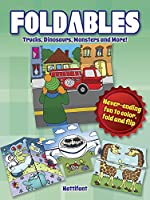 Foldables -- Trucks, Dinosaurs, Monsters and More!: Never-Ending Fun to Color, Fold and Flip (Dover Publications Inc)