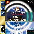 NEC 丸形スリム蛍光灯(FHC) LifeEホタルックスリム 66W 20形+27形パック品 昼光色 FHC66ED-LE-SHG