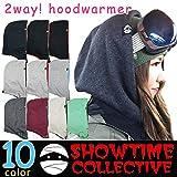 フードウォーマー スノーボード フェイスマスク ネックウォーマー バラクラバ SHOWTIME COLLECTIVE(ショウタイム コレクティブ) 無地 ソリッド スキー スノボ 裏 フリース フェイスガード グレー/ブラック
