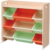 アイリスオーヤマ おもちゃ箱 天板付き キャロット 幅86.3×奥行34.8×高さ79.5cm キッズ トイハウスラック…