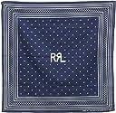 (ダブルアールエル) RRL 日本製 本藍染め ポルカドット ロゴ インディゴ バンダナ Polka Dot Bandanna 並行輸入品 並行輸入品