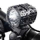YUMUN 自転車ライト LED ヘッドライト  USB充電式 IPX-6防水 1200ルーメン 4400mahフロントライト