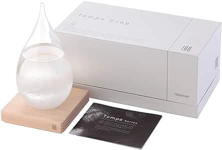 テンポドロップ ストーム グラス Perrocaliente 正規品 おしゃれなインテリア ペロカリエンテ 100percent 結晶 クロス付き (Tempo Drop)