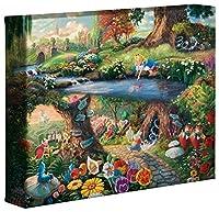 Thomas Kinkade Studios Alice In Wonderland 8 x 10 Gallery Wrapped Canvas [並行輸入品]