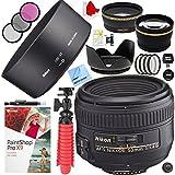 Nikon af-s Nikkor 50mm f / 1.4gレンズと58mmフィルタセットプラスアクセサリーバンドル