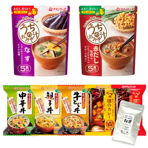 アマノフーズ フリーズドライ ご飯のお供 7種類 20食 小袋ねぎ1袋 セット