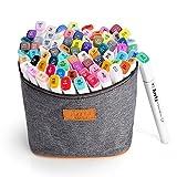 Arrtx 水彩毛筆 ペン 80色 ダブルペン先/ツイン先 塗り絵、描画、落書き用 保証提供いたしておりますので、問題がございましたら弊社と連絡してください。無料交換或いは新品再送を手配させていただきます
