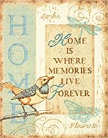 "Home Memories Counted Cross Stitch Kit-10""X13"" 14 Count (並行輸入品)"