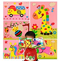 PAVEDGE Mosaic Sticker Art Kits for Kids, Toddler Crafts for 3 to 7 Years Olds, Diy 3D Puzzle Drawing Stickers
