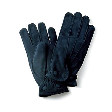 Goat Suede Gloves: Dark Navy