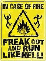 Panic Now 金属板ブリキ看板警告サイン注意サイン表示パネル情報サイン金属安全サイン