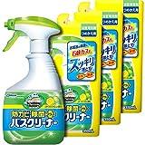 【まとめ買い】 スクラビングバブル 浴室・浴槽洗剤 防カビ・除菌プラスバスクリーナー シトラスライムの香り 本体 400ml+つめかえ3個セット