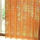 モダン竹カーテン [100×175cm] ライトブラウン (SD-044-LBR)