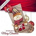 大きい クリスマスソック Caseeto クリスマス ブーツ ソックス 靴下 プレゼント 長靴 袋 クリスマスツリー 飾り (雪だるま, タイプC)