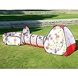 EocuSun子供用テント セット ボールプール ボールピット 折り畳み式 トンネル バスケットプール