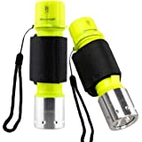 Garberiel 2 Pack Diving Flashlight, Super Bright Diving Light 3 Modes Underwater Torch for Scuba Diving, Night Snorkeling (Ba