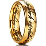 King Will Magic 7mm Titanium Ring Gold Plated Rings Comfort Fit Wedding Band for Men Women