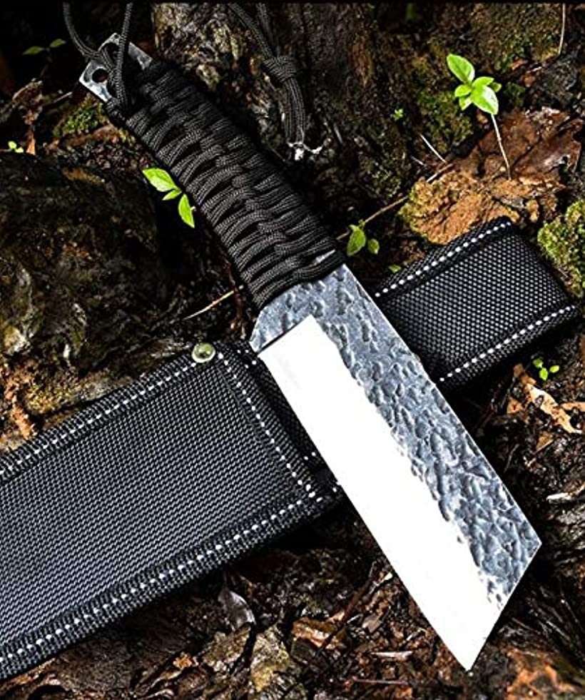 スケッチ寄付する読み書きのできない高硬度 戸外の小軍工刀 手作り鍛造 刃物