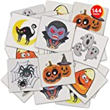 ArtCreativity Halloween Temporary Tattoos for Kids - Pack of 144-2 Inch Non-Toxic Tats Stickers for Boys and Girls, Best for
