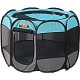 """PaWz Poratble Foldable 8 Panel Pet Playpen Puppy Dog Cat Play Pens Cage Tent 30"""" 30"""": 75(L) x75(W) x52(H) cm"""