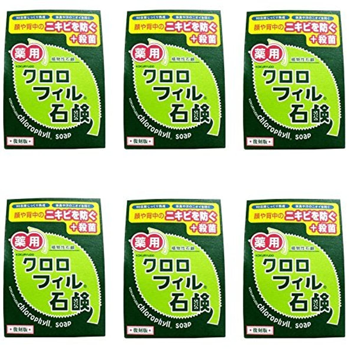 完全に乾くしなやか菊【まとめ買い】クロロフィル石鹸 復刻版 85g (医薬部外品)【×6個】