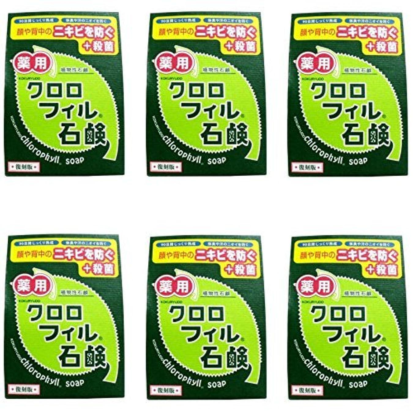 に慣れ奪う困った【まとめ買い】クロロフィル石鹸 復刻版 85g (医薬部外品)【×6個】