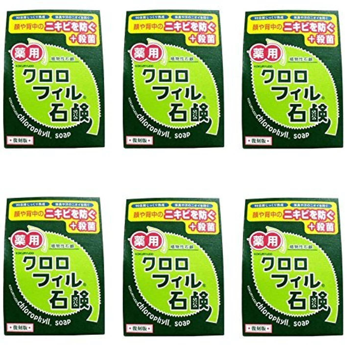 のホスト練習普遍的な【まとめ買い】クロロフィル石鹸 復刻版 85g (医薬部外品)【×6個】
