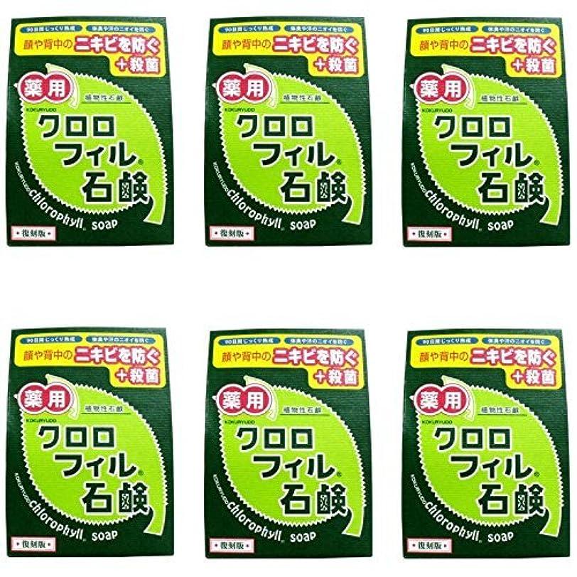 価値のない命令策定する【まとめ買い】クロロフィル石鹸 復刻版 85g (医薬部外品)【×6個】
