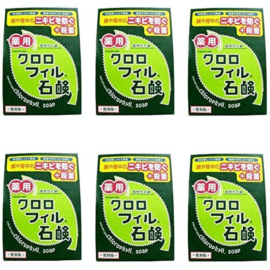 にじみ出る中毒自殺【まとめ買い】クロロフィル石鹸 復刻版 85g (医薬部外品)【×6個】
